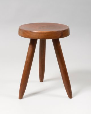 low priced 70fdc ccc57 Wooden Stool by Charlotte Perriand, 1950s
