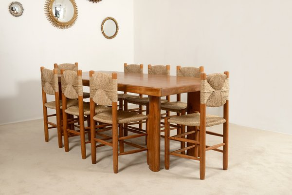 Vintage Dining Set By Charlotte Perriand, 1950s