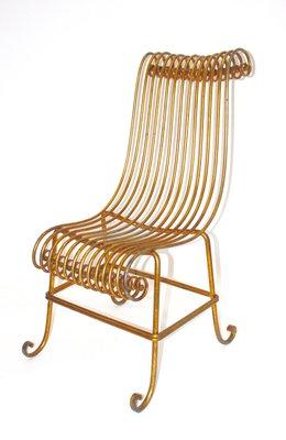 Vintage Italian Gilded Metal Chair