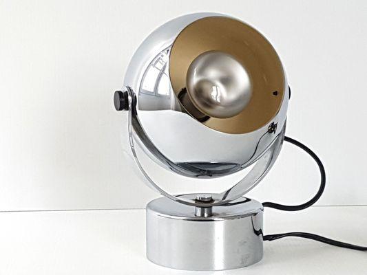 Age Boule Space Lampe Chrome En Plaqué1970s Forme De Bureau Xrqdbowce VMUpSz