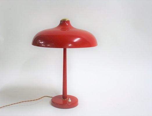 Lampada da scrivania mid century rossa anni in vendita su pamono
