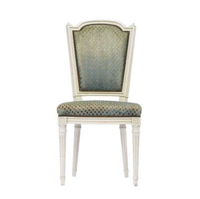 Louis Xvi Style French Dining Chairs 1950s Set Of 6 1