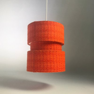 Bohemian Orange Fabric Ceiling Light 1970s For Sale At Pamono