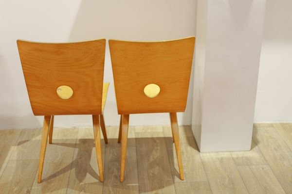 Birch Swing Dining Chairs By Cj Van Os For Culembourg 1940s Set Of 2
