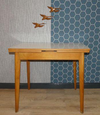 Formica En De Manger Salle Vintage Boisamp; Table Extensible À rxBtQCdhs