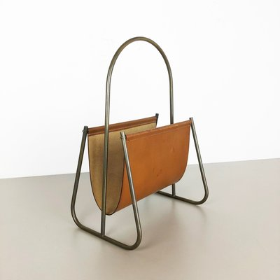 4a834d1b685 Brass and Leather Model 4019 Magazine Rack by Carl Auböck