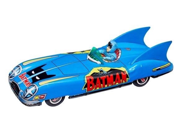 Macchina giocattolo Bat Mobile di Asc Aoshin, Giappone, anni '60