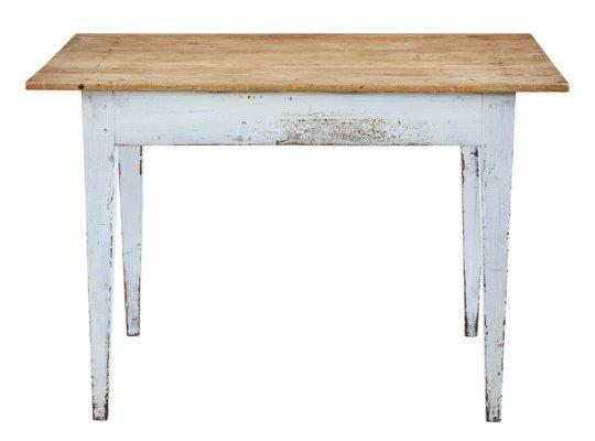 Antique Swedish Pine Kitchen Table