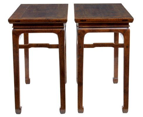 Side Table Chinees.Antique Chinese Hardwood Side Tables Set Of 2