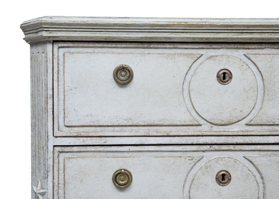 Antique Painted Swedish Chest Of Drawers Set 2
