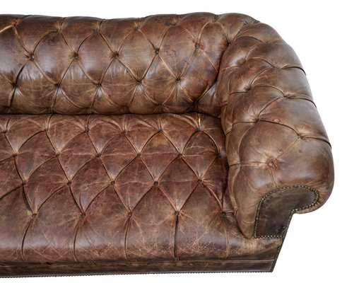 Vintage Leather Chesterfield Sofas Set