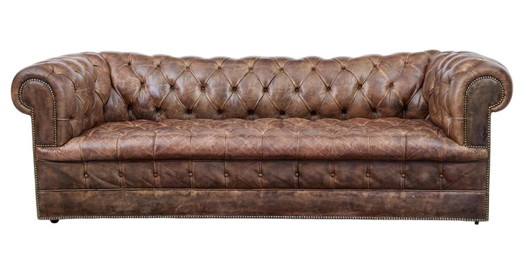 Astounding Vintage Leather Chesterfield Sofas Set Of 2 Download Free Architecture Designs Scobabritishbridgeorg
