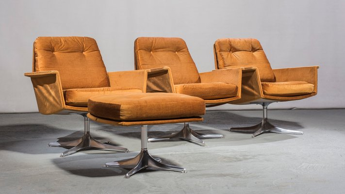 Vintage Sedia Armchairs Ottoman By Horst Bruning For Cor 1966