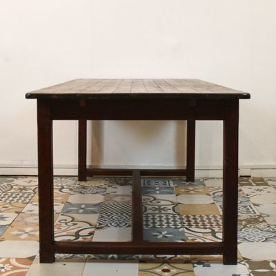 Large French Wooden Table 1940s 3