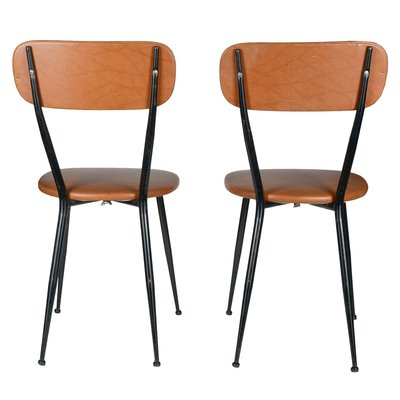 Sedie Da Cucina Di Design.Italian Leatherette Iron Kitchen Chairs 1960s Set Of 4 For