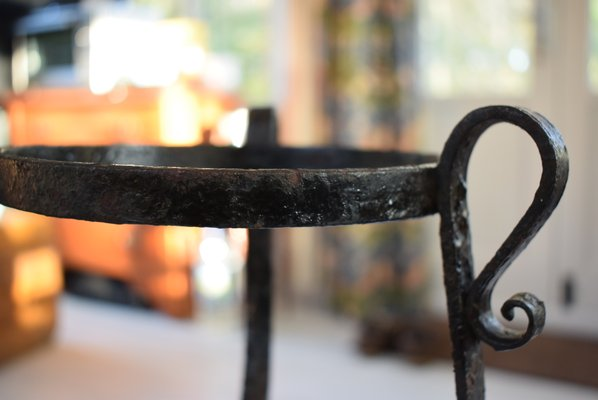 Stupendous Antique Black Wrought Iron Plant Stands Set Of 2 Gmtry Best Dining Table And Chair Ideas Images Gmtryco