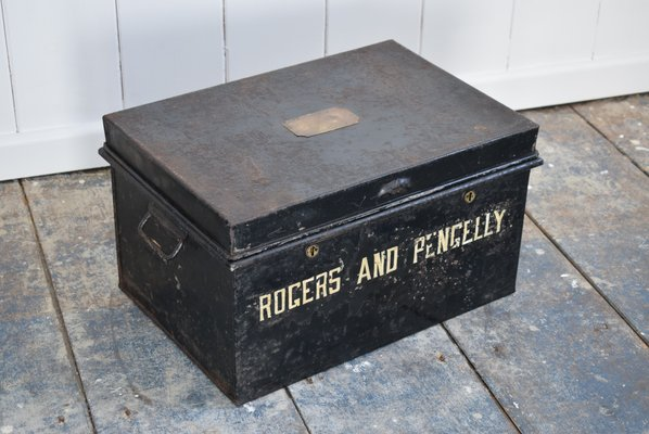 Boxes/chests Edwardian (1901-1910) Antique Industrial Style Steel Deed Box Be Friendly In Use