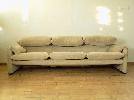 3-Seat Maralunga Sofa by Vico Magistretti for Cina, 1970s on