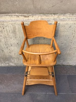 Vintage Wood Highchair For At Pamono