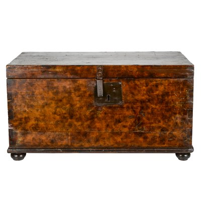 19th Century Italian Solid Wood Trunk