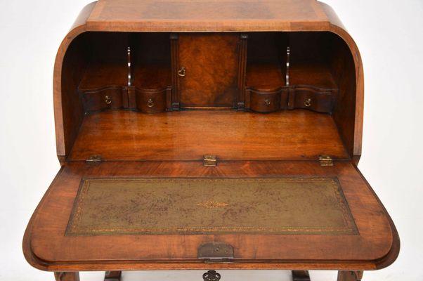 Vintage Burr Walnut Writing Bureau On Legs For Sale At Pamono