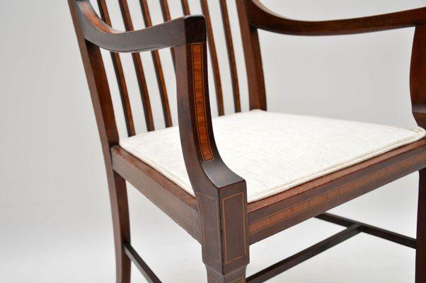 Edwardian (1901-1910) Antique Furniture Edwardian Antique Mahogany Armchair For Sale