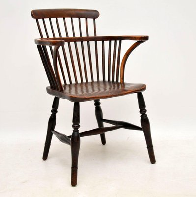 Antique Elm Spindle Back Windsor Chair For Sale At Pamono