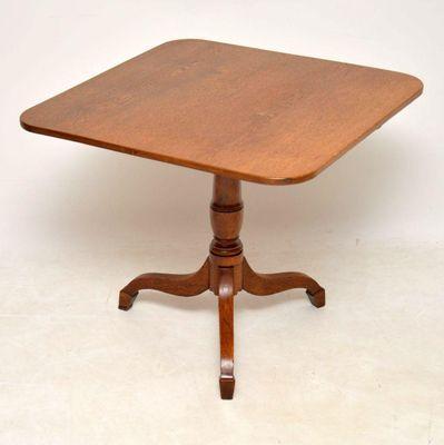 Antique George Iii Golden Oak Tilt Top Table 1