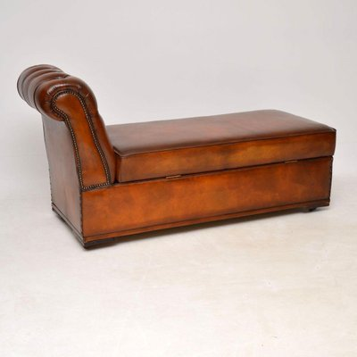 Swell Antique Victorian Leather Chaise Lounge Ottoman Andrewgaddart Wooden Chair Designs For Living Room Andrewgaddartcom