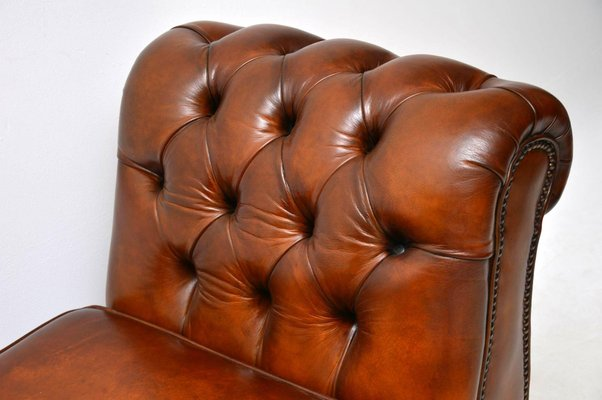 Fantastic Antique Victorian Leather Chaise Lounge Ottoman Evergreenethics Interior Chair Design Evergreenethicsorg