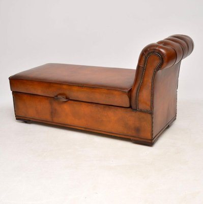 Awesome Antique Victorian Leather Chaise Lounge Ottoman Pdpeps Interior Chair Design Pdpepsorg