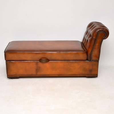 Pleasing Antique Victorian Leather Chaise Lounge Ottoman Evergreenethics Interior Chair Design Evergreenethicsorg
