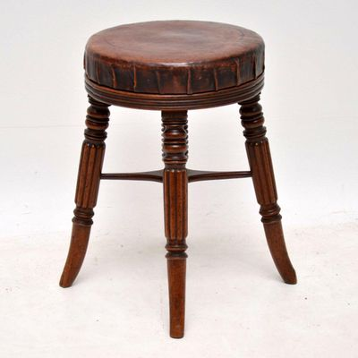Swell Antique Adjustable Victorian Mahogany And Leather Piano Stool Machost Co Dining Chair Design Ideas Machostcouk
