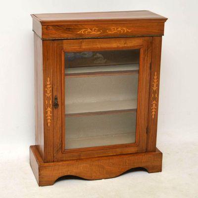Beau Antique Victorian Walnut Pier Cabinet