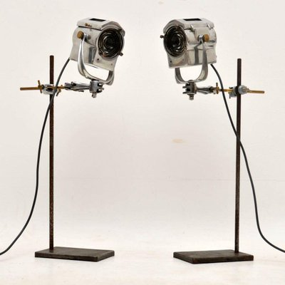 Vintage Spotlights Or Table Lamps From Century Lighting Inc 1950s Set Of 2