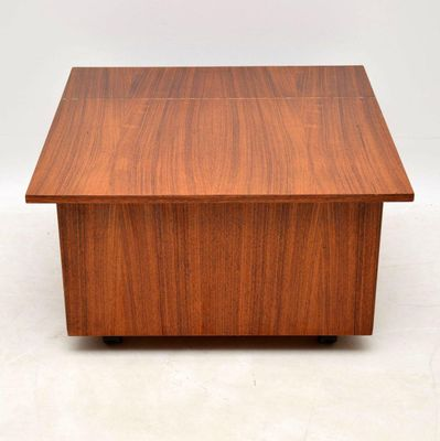 Danish Rosewood Coffee Table Or Storage Chest 1960s