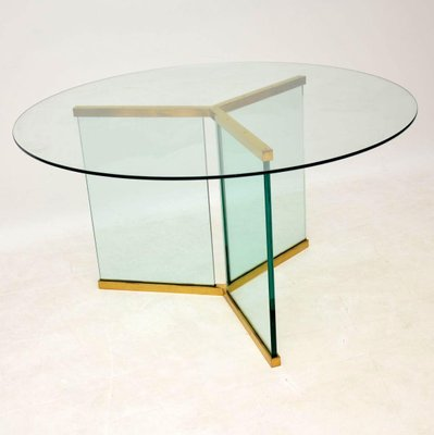 Vintage Gl Dining Table By Leon Rosen For Pace Collection 1970s 1