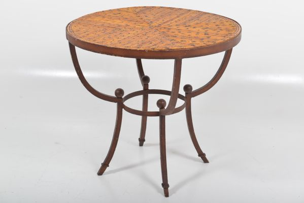 French Art Deco Rustic Side Table, 1920s 1