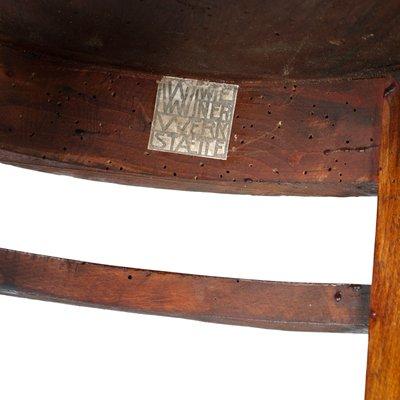 Ovaler Wiener Beistelltisch aus Nussholz von Josef Hoffmann