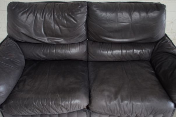 Sensational Vintage Italian Leather Loveseat 1980S Caraccident5 Cool Chair Designs And Ideas Caraccident5Info