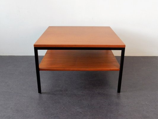 Vintage Wood Metal Coffee Table With Shelf 1960s For Sale At Pamono
