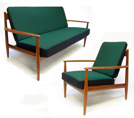 Fd 118 Sofa Chair By Grete Jalk For France Daverkosen 1950s Set Of 2