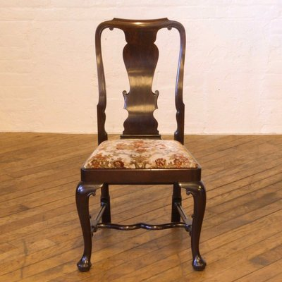 Surprising Antique Queen Anne Style Mahogany Chairs Set Of 6 Theyellowbook Wood Chair Design Ideas Theyellowbookinfo