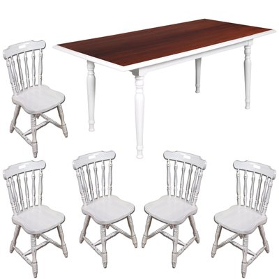 Mid Century Dining Table With 5 Chairs 1