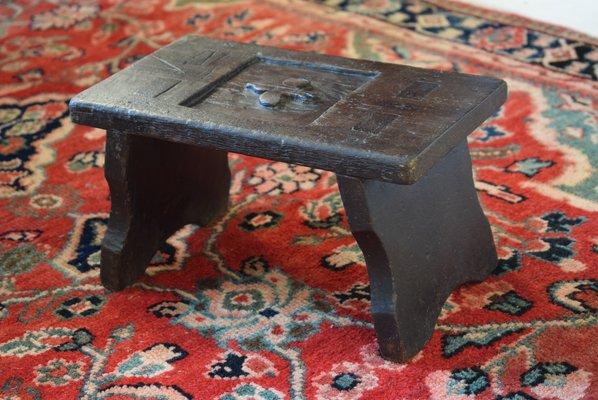 Sgabello da mungitura antico in quercia in vendita su pamono