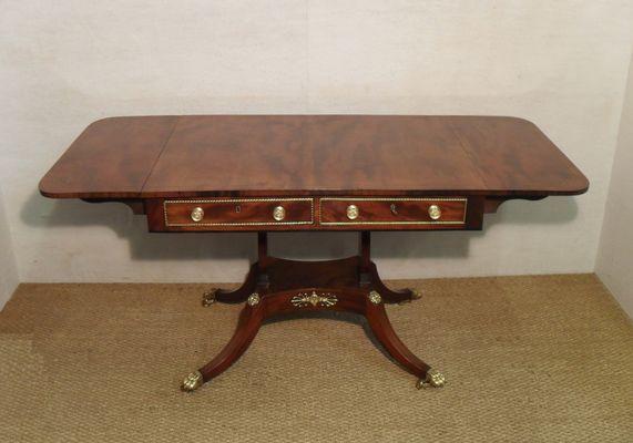 Antique Regency Mahogany Sofa Table 1810s