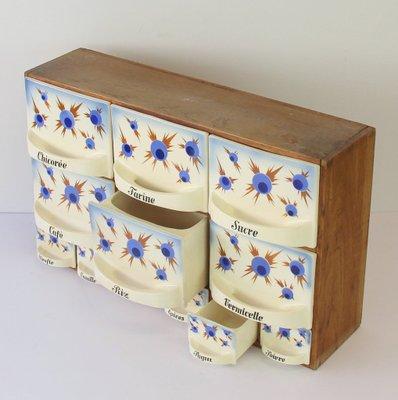 Mobiletto da cucina Art Déco in ceramica, Francia, anni \'30