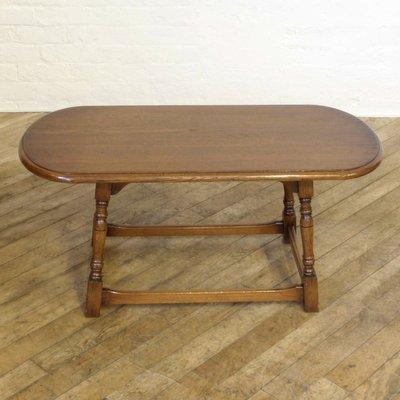 Oval Vintage Oak Coffee Table