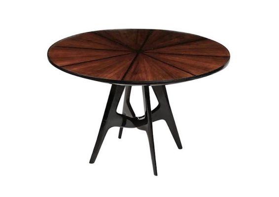 Tavoli Da Pranzo Rotondi In Vetro.Tavolo Da Pranzo Rotondo In Legno E Vetro Anni 50 In Vendita Su Pamono