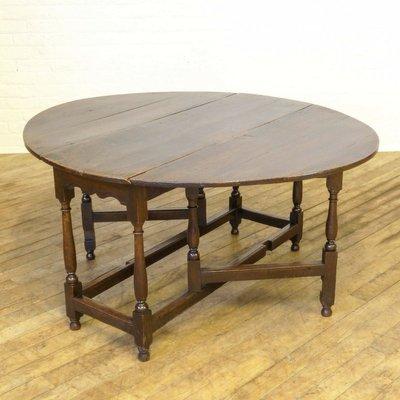 Gateleg Tisch.Antiker Georgischer Gateleg Tisch Aus Eiche